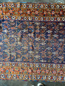 Reiji, Antique Persian Afshar, 4'4 x 5'9