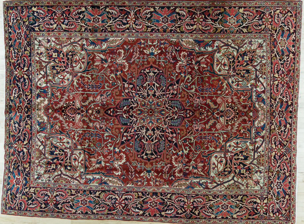 Persian Heriz for Istoria Interiors, 8'6 x 11'3