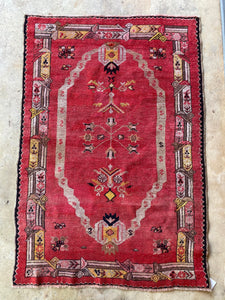 Aliye, vintage Turkish Oushak, 3'4 x 5