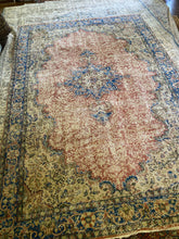 Load image into Gallery viewer, Ipek, vintage Turkish rug with distress, 6'7 x 10