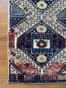 Adja, vintage Turkish runner, 1'9 x 4'7