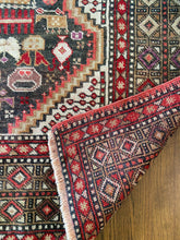 Load image into Gallery viewer, Kiraz, vintage Turkish rug with a Persian Quashqai Schiraz deaign