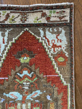 Load image into Gallery viewer, Eda, vintage Turkish yastik 1'7 x 3'4