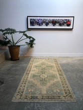 Load image into Gallery viewer, Deniz, vintage Turkish runner, 3'5 x 7'9