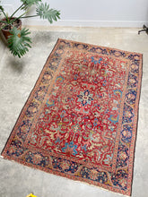 Load image into Gallery viewer, Zenja, vintage Persian Heriz, all over pattern, 6'7 x 9'5