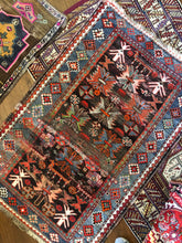 Load image into Gallery viewer, Basir, vintage rug with brilliant colors, 3'5 x 5'2