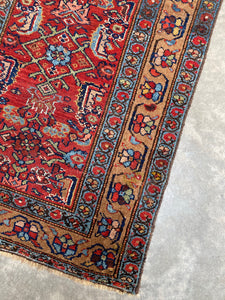Perttu, vintage Serab  runner with wool and camel hair, 3 x 9'2
