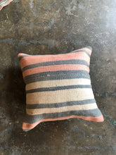 "Load image into Gallery viewer, Pillow, vintage kilim 16 x 16"", striped neutral"