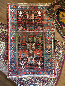 Basir, vintage rug with brilliant colors