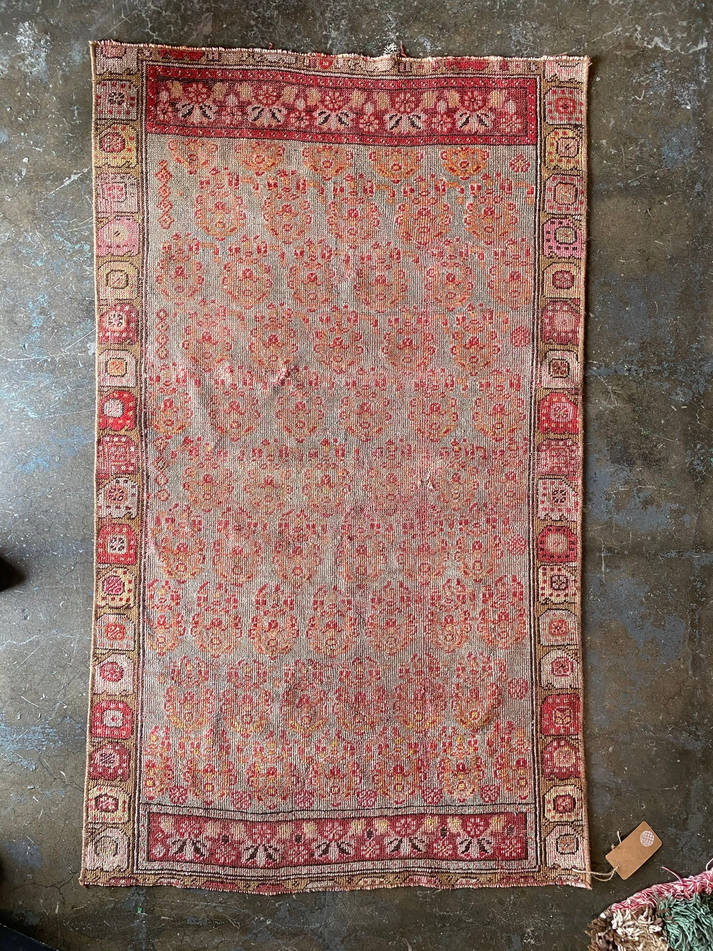 Pink Turkish rug for Elizabeth