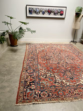 Load image into Gallery viewer, Kenna, vintage Persian Heriz 7'10 x 11'1