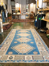 Load image into Gallery viewer, Arslan, vintage Turkish rug, indigo