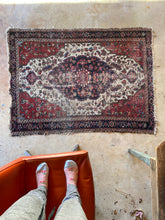 Load image into Gallery viewer, Baris, vintage Persian scatter rug, 3'4 x 4'7
