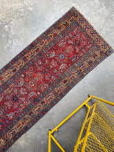 Load image into Gallery viewer, Perttu, vintage Serab  runner with wool and camel hair, 3 x 9'2