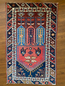 Ran, vintage a Turkish rug 2'4 x 3'10