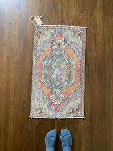 Baha, vintage Turkish yastik, 1'7 x 2'9