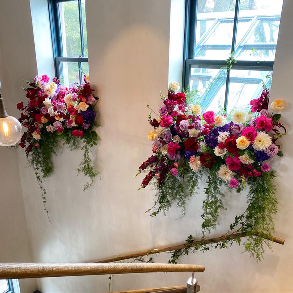 colorful wedding flower decorations