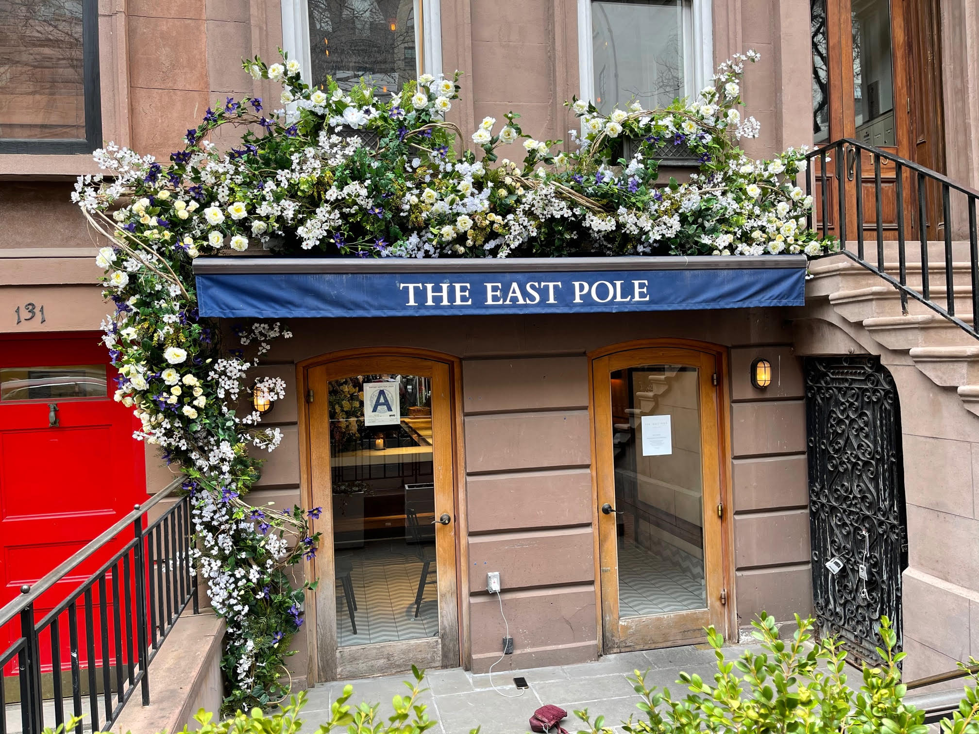 the east pole floral installation