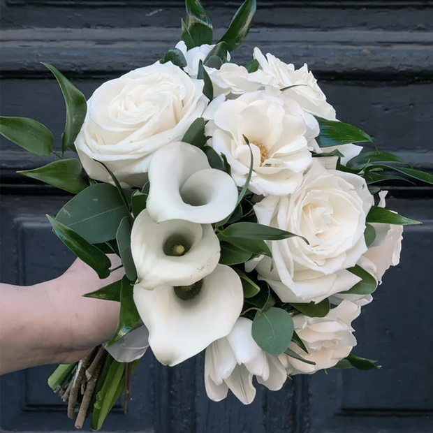 Classic White City Hall Bridal Bouquet