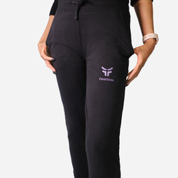 Women's Black Cozy Joggers