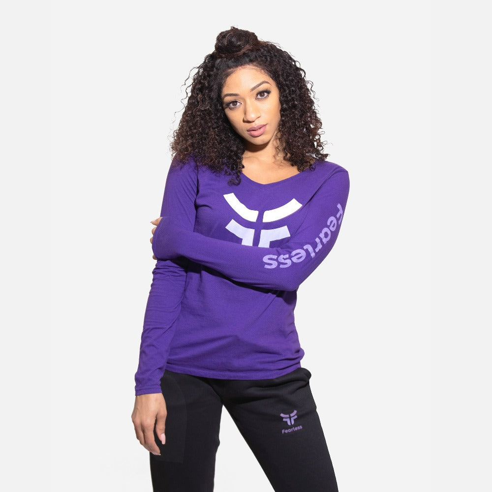 Women's Purple Classic Long Sleeve Logo T-Shirt