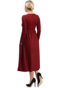 Chica Dress Burgundy