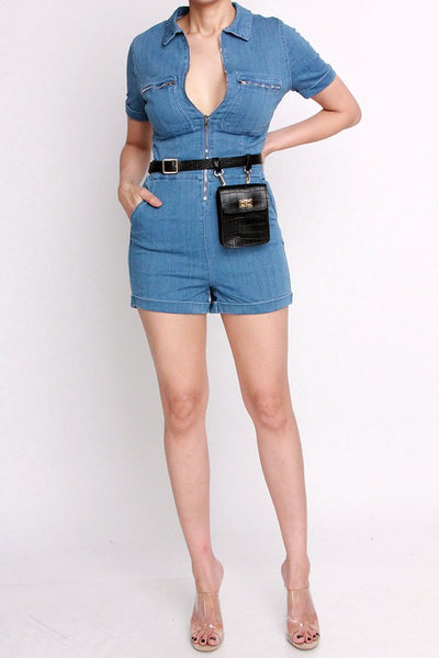 Kim Denim Romper