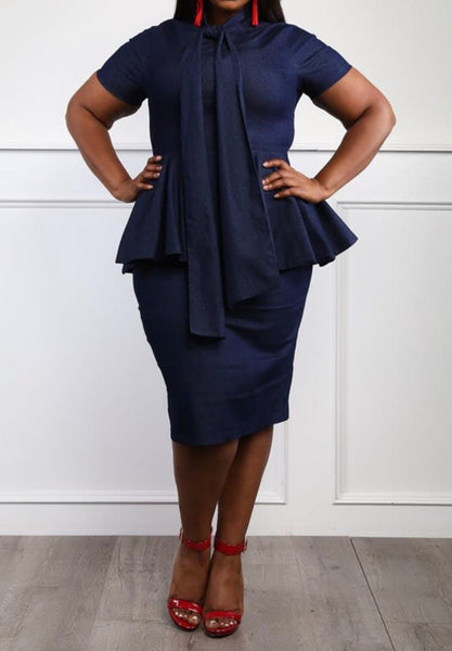 Monica Denim Dress Plus Size