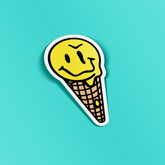 Happyish Cone Sticker