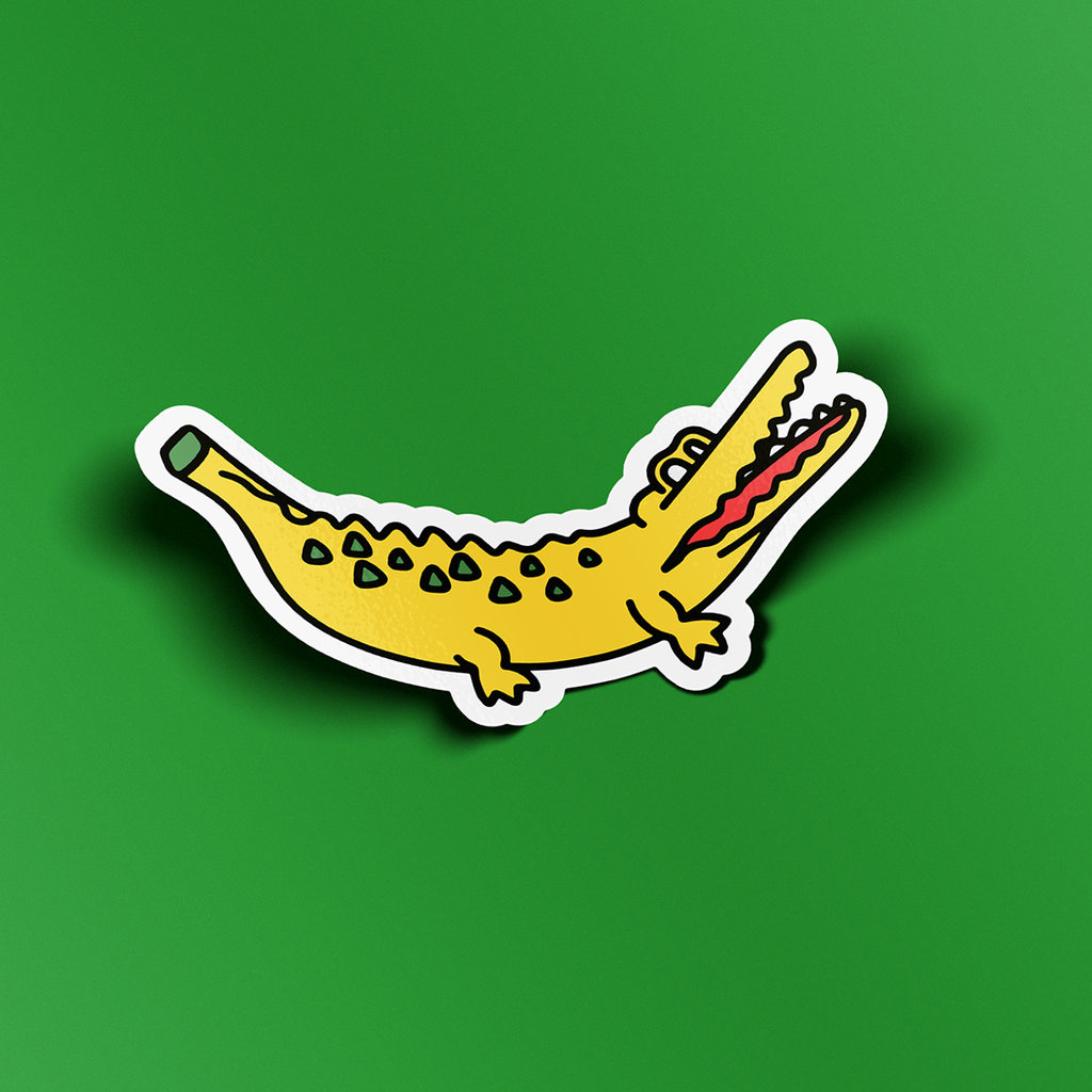 Bananagator Sticker