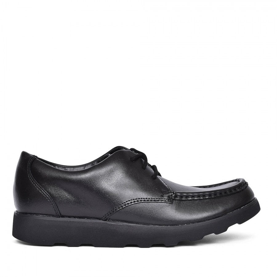 CLARKS ZAPATO CROWN TATE BLACK LEATHER