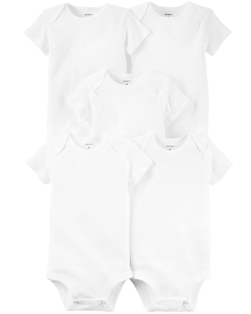 CARTERS 5PK CREEPERS BLANCO