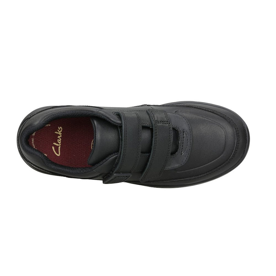 CLARKS ZAPATO VENTURE WALK BLACK LEATHER