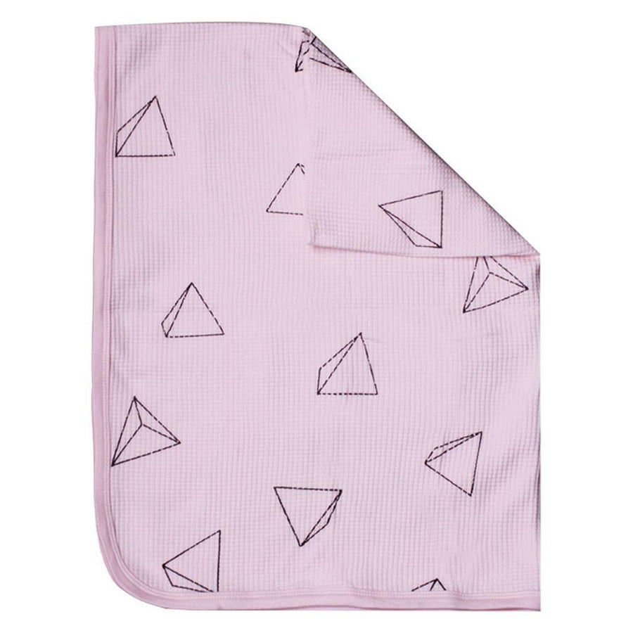 MI NENE FRAZADA SMALL WAFFLE SUMMER BLANKET LIGHT PINK
