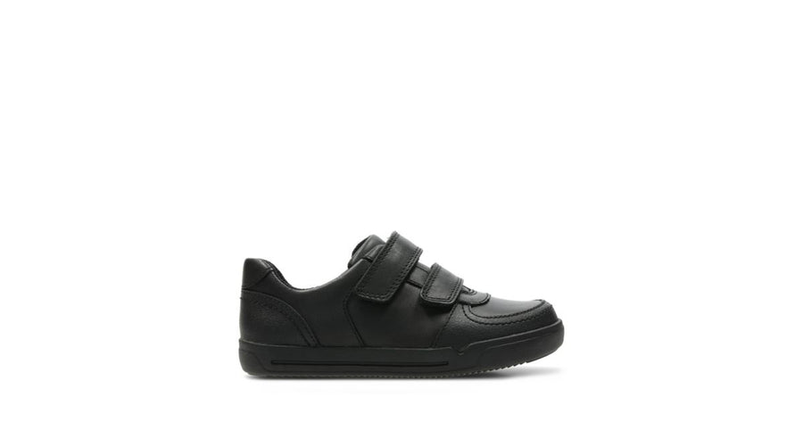 CLARKS ZAPATO MINI RACER BLACK LEATHER