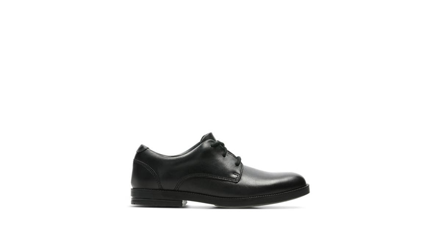 CLARKS ZAPATO RUFUS EDGE BLACK LEATHER