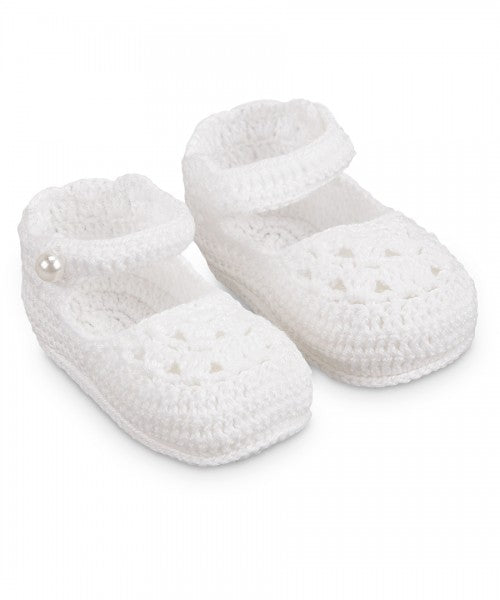JEFFERIES ZAPATOS BLANCOS DE BEBE NIÑA NB