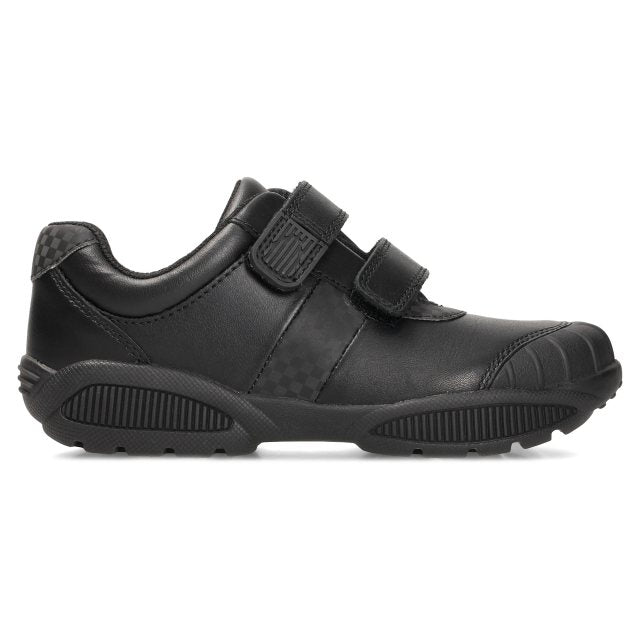 CLARKS ZAPATO JONAS GLO BLACK LEATHER