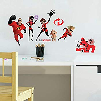 ROOM MATE INCREDIBLES 2 GIANT DECALS PEEL & STICK