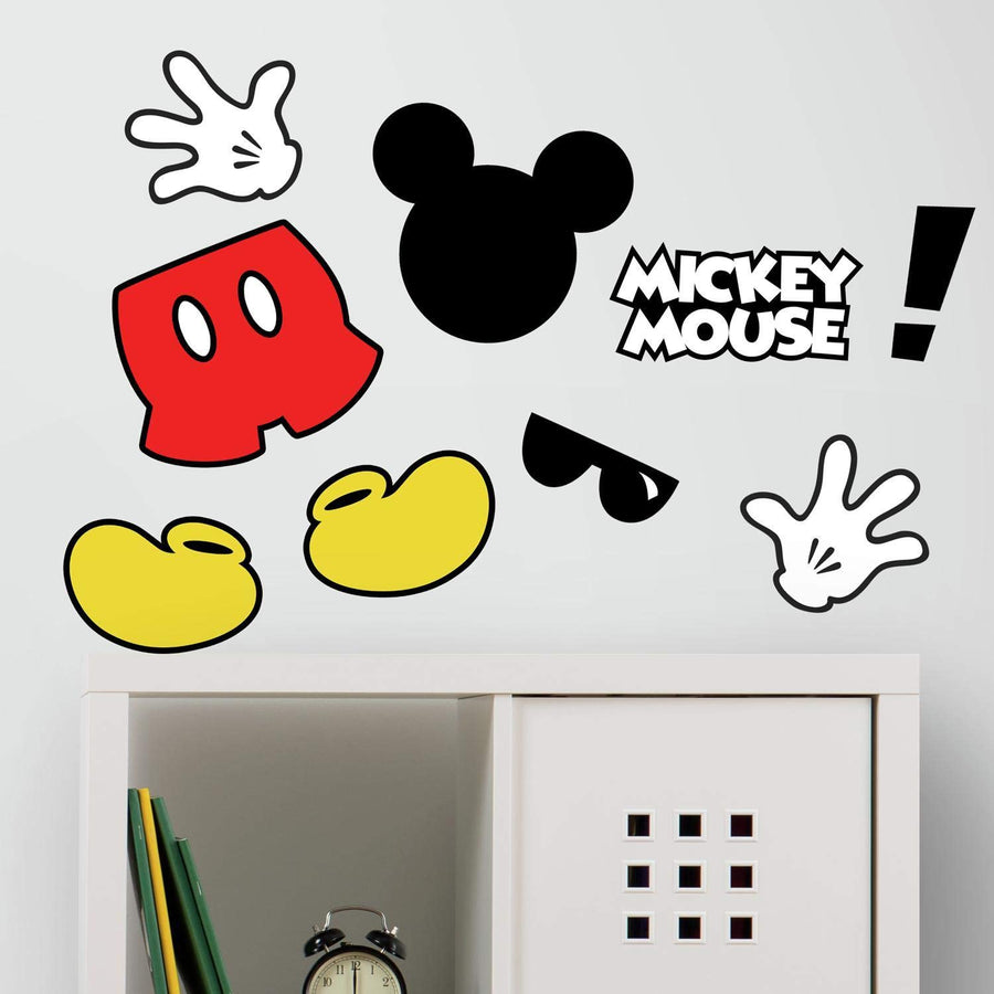 ROOM MATE MICKEY MOUSE ICONS W/FLOCK PEEL & STICK