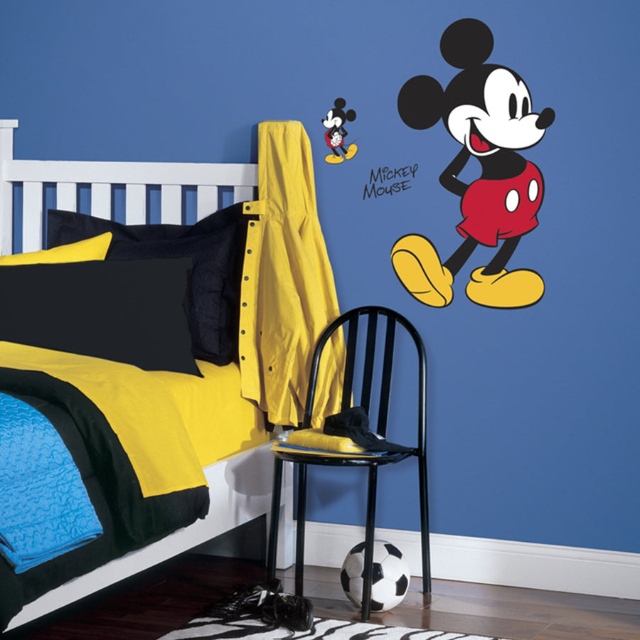 ROOM MATE MICKEY MOUSE GIANT WALL DECALS PEEL & STICK