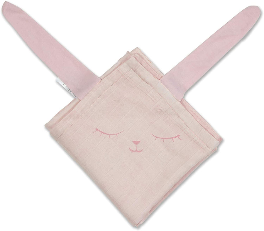 MI NENE FRAZADA BAMBOO RABIT LIGHT PINK