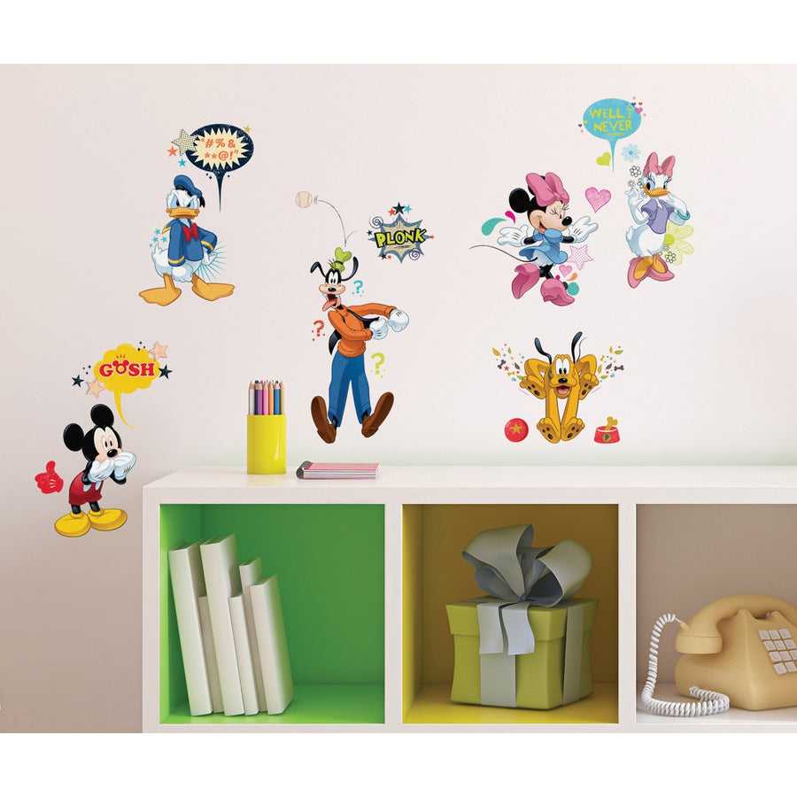 ROOM MATE MICKEY & FRIENDS ANIMATED FUN PEEL & STICK