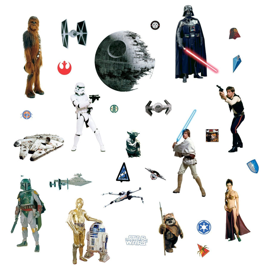 ROOM MATE STAR WARS CLASSIC WALL DECALS RMK1586SCSBK