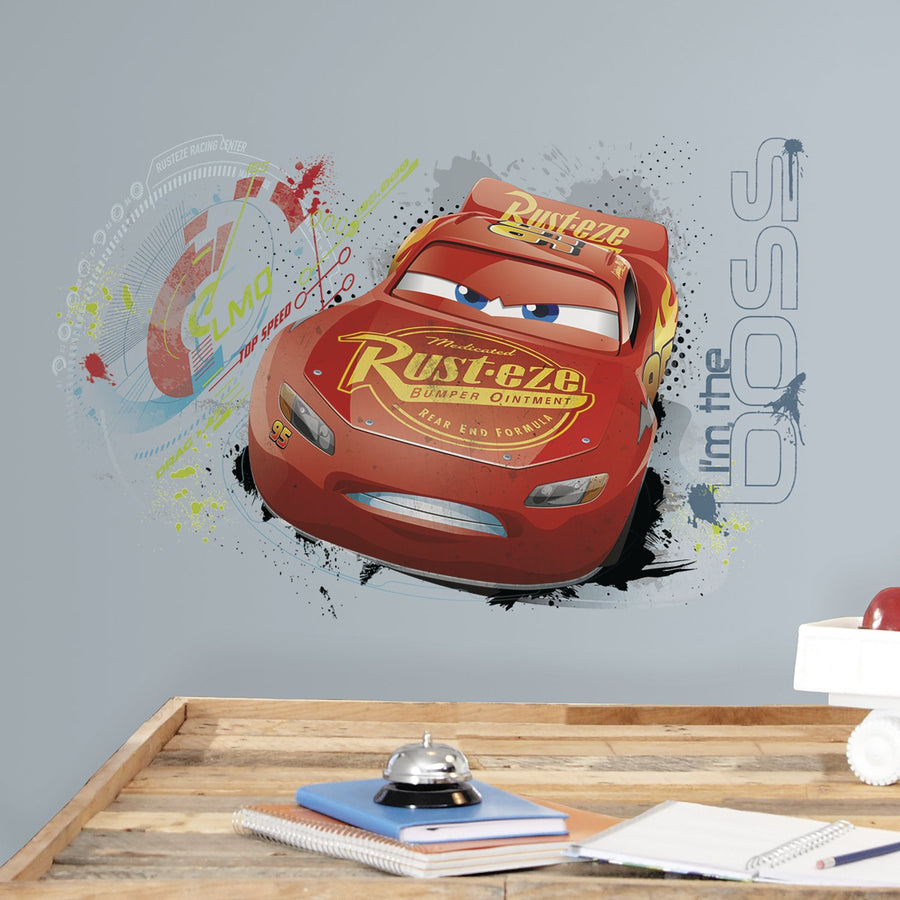 ROOM MATE DISNEY CARS 3 GIANT WALL DECAL