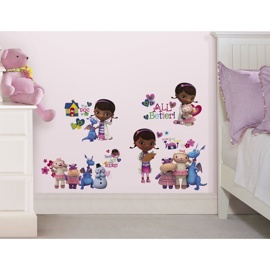 ROOM MATE DOC MCSTUFFINS WALL DECALS PEEL & STICK