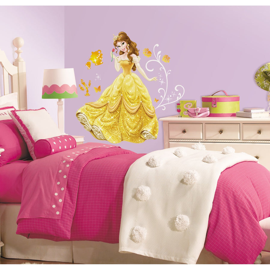 ROOM MATE PRINCESS BELLE GIANT WALL DCLS PEEL & STICK