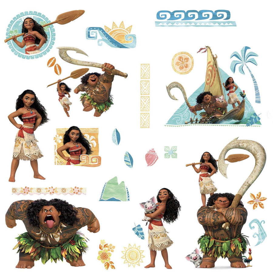 ROOM MATE DISNEY MOANA WALL DECALS PEEL & STICK