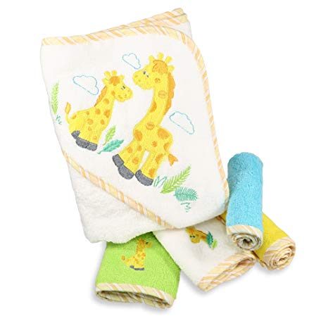 SET DE TOALLAS YELLOW GIRAFFE