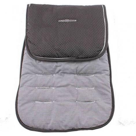 MI NENE FORRO REVERSIBLE PARA SILLA DE CARRO BLACK STRIPES & DOTS